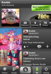 tadaa2 Tadaa builds on Instagrams template with more Twitter like features for social photographers
