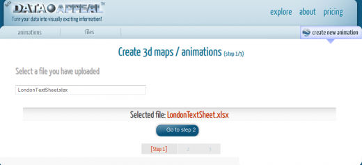 2. Create 520x237 DataAppeal lets you create your own location based infographics