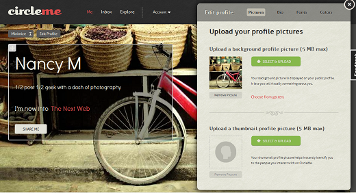 CMProfile CircleMe: A Social Network based on your Likes