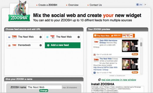 Convofy 91 520x315 Zooshia creates a social widget including your Twitter, Facebook, and YouTube feeds
