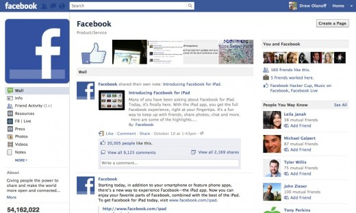 Facebook 7 520x311 Facebook and Musicians rule Facebooks top Liked pages