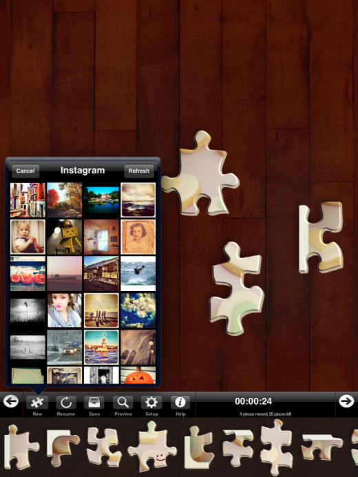 IMG 00721 520x693 Instapuzzle for iPad turns popular Instagram photos into a puzzle