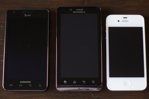 IMG 5322 520x346 A practical comparison of the Apple iPhone 4S, Samsung Galaxy S II and Motorola Droid Bionic