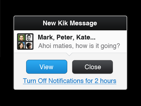 KIK bb 3 Kik comes back to the BlackBerry, just in time for BBM outage