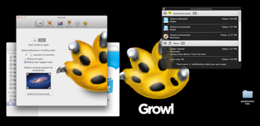 RollupWhileAway 520x253 New version of Growl enters The Mac App Store for $1.99