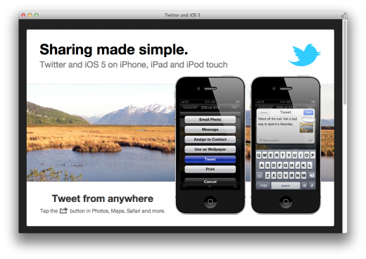Screen Shot 2011 10 12 at 3.12.20 PM 520x368 Twitter goes all in with iOS 5, showcasing features on a new landing page