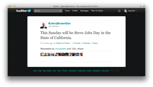 Screen Shot 2011 10 14 at 5.04.20 PM 520x294 October 16th will be Steve Jobs Day in California