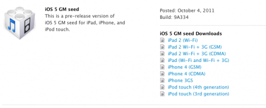 Screen shot 2011 10 04 at 12.04.19 PM 520x211 Apple seeds iOS 5 and Xcode 4.2 Gold Master beta build to developers