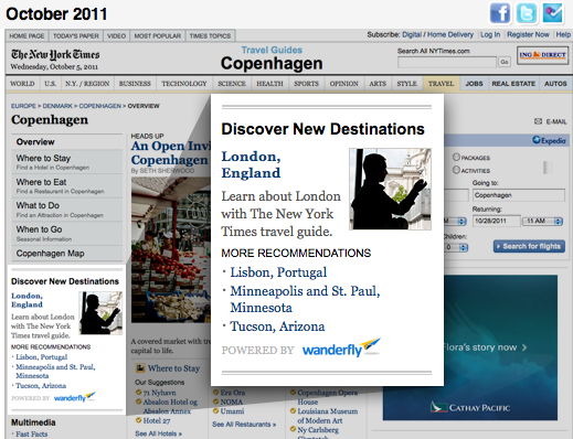 Screen shot 2011 10 05 at 4.24.29 PM Travel startup Wanderfly lands a huge partnership with The New York Times