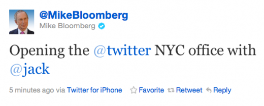 Screen shot 2011 10 06 at 10.56.25 AM 520x210 Jack Dorsey and Mayor Bloomberg officially open Twitters New York City HQ