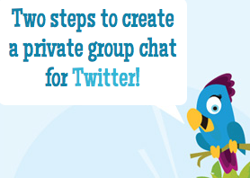 Screen shot 2011 10 31 at 12.43.20 PM !Blether lets you start a private Twitter chat just by typing !b