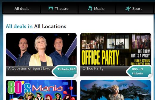 Ticketmaster Deals Cheap Theatre Tickets Music Sports Discounts 1319704282073 520x335 Ticketmaster launches new UK deals website