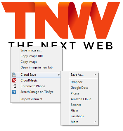cloudsave1 This Chrome extension enables 1 click file saving to the cloud