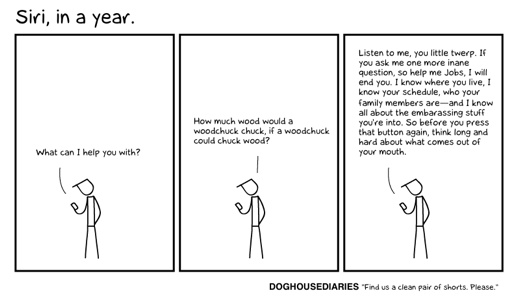 doghouse on siri Hilarious: Siri's temperament after a year of nonsensical questions [Comic]