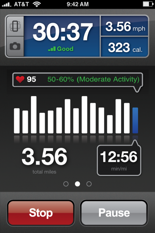 heartRate zones 520x780 RunKeepers new app: Now with auto pause, heart rate zones and photos