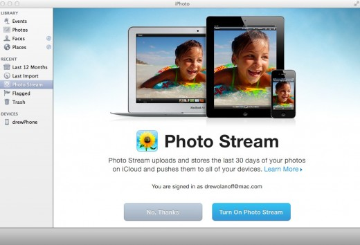 iPhoto 520x354 iPhoto update with iOS 5 and iCloud support released on the Mac App Store