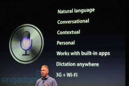 iphone5apple2011liveblogkeynote1557 1 520x345 Apples Siri voice assistant features Dictation for natural language processing