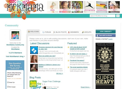 mckmama community 520x378 BlogFrog is a must have community tool for topic based blogs