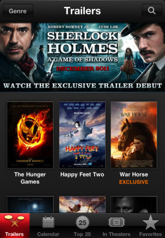Apple releases iTunes Movie Trailers for iOS   HD and exclusive included