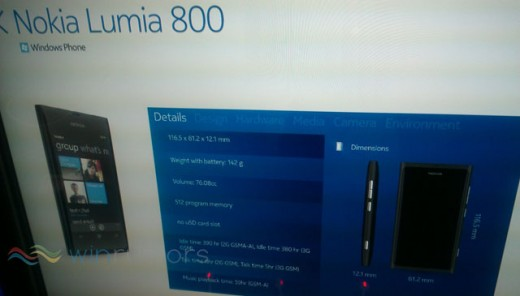 nokialumia800 520x296 Nokia launching Lumia 800 and Lumia 710 Windows Phone models tomorrow