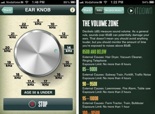 turn it down 3 520x384 Play It Down for iPhone lets you test your hearing and helps preserve it