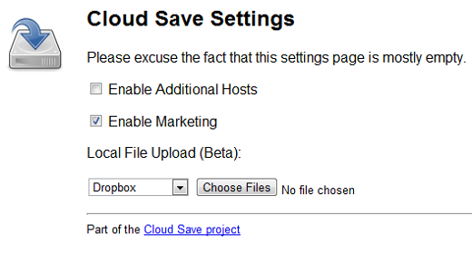 upload This Chrome extension enables 1 click file saving to the cloud