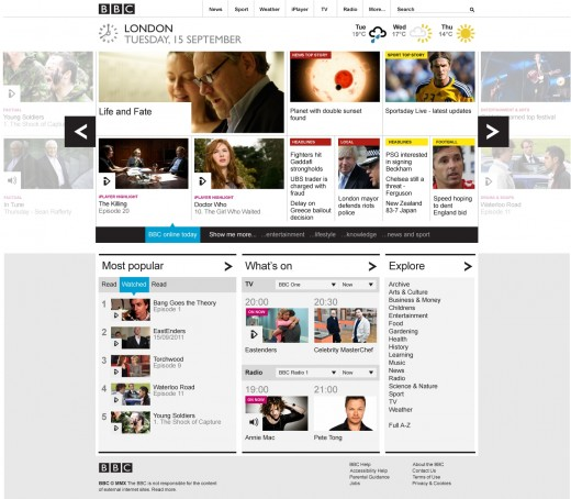 BBCHomepage The BBC's new homepage is now live for everyone in the UK