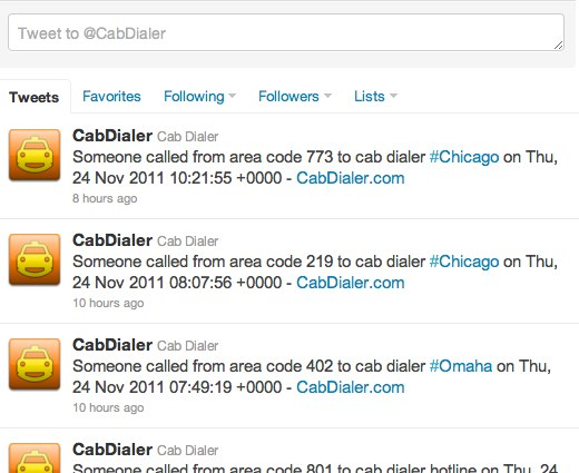 Cab Dialer cabdialer on Twitter Cabs here! Never be stranded without a taxi again thanks to Cab Dialer