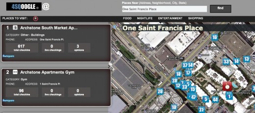 Convofy 22 520x231 4SQoogle Lets you Stalk foursquare Locations Around you with Google Maps