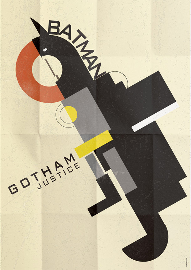 decorate your geeky lair with these cool art deco superhero posters. Black Bedroom Furniture Sets. Home Design Ideas