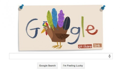 Google1 520x312 Make your own Thanksgiving Google Doodle to share with your Google+ Circles