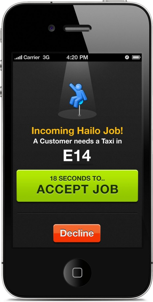 Hailo Job Offer 520x1024 Hailo: This mobile app could change the way you book taxis forever