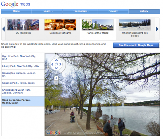 Parks2 520x443 Google Street View lets you take a walk in parks across the world