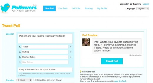 Pollowers Twitter polls 520x283 Pollowers is a Twitter polling tool that makes your tweets truly count