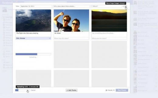 RealTimePhotoUpdate 520x323 Facebook now lets you track your photo upload progress in real time