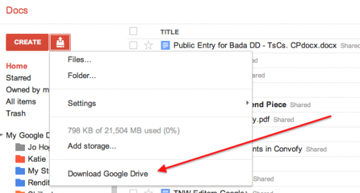 Screen Shot 2011 11 01 at 14.01.24 520x279 Google Docs begins to get Google Drive integration. Heres how enable the hidden option.