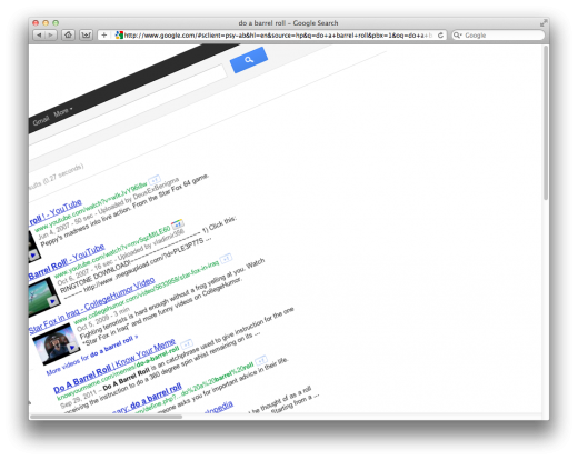 Screen Shot 2011 11 03 at 9.47.25 AM 520x414 Brilliant: search Google for do a barrel roll, youll love it