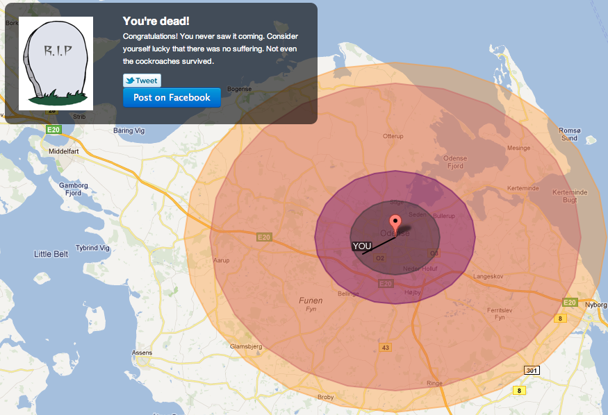 Would you survive a nuclear bomb? This site has the answer
