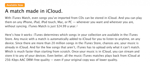 Screen Shot 2011 11 14 at 6.15 520x231 Apple releases iTunes 10.5.1, iTunes Match launches today