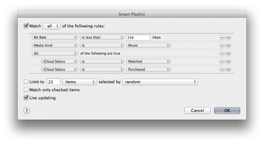 Screen Shot 2011 11 15 at 3.54.15 PM 520x284 Use iTunes Match to perform a one time 256k quality upgrade on your music