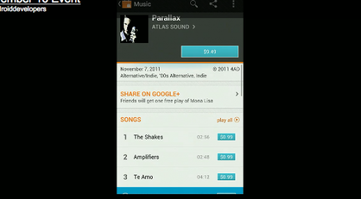 Screen Shot 2011 11 16 at 2.22.03 PM 520x287 Google Announces Google Music, Storage and Streaming Free for All up to 20K Songs, Only in U.S. so Far