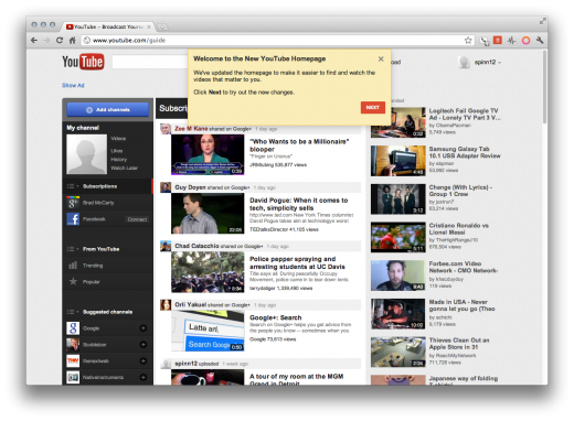 Screen Shot 2011 11 21 at 12.25.08 PM 520x382 How to get YouTubes new look right now [Updated]