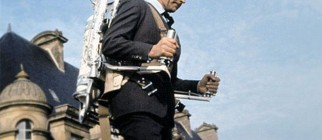 Sean Connery uses a Belt Rocket Belt jetpack in the 1965 James Bond film Thunderball