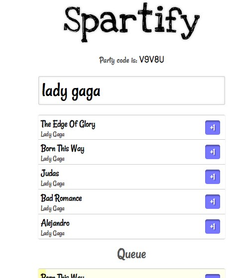 Spartify 1 Give control of your Spotify playlist to your whole party with Spartify
