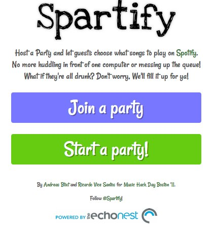 Spartify 2 Give control of your Spotify playlist to your whole party with Spartify