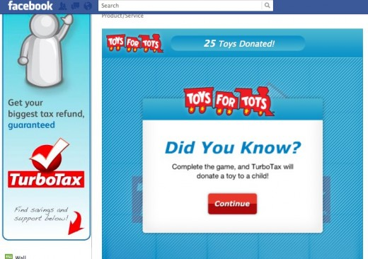 TurboTax 1 520x366 TurboTax turns boring tax stuff into a game for Social Good