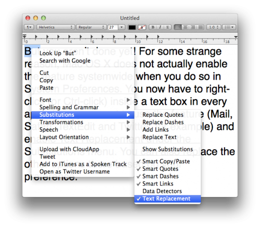 enabling text replacement 520x455 How to master the keyboard on Mac OS X: A comprehensive guide