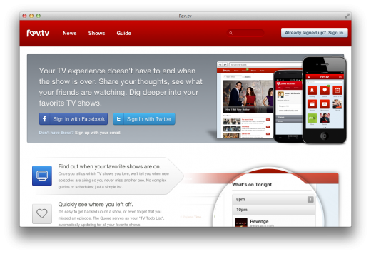 fav tv 520x356 Fav.tv is a gorgeously designed social network for TV enthusiasts