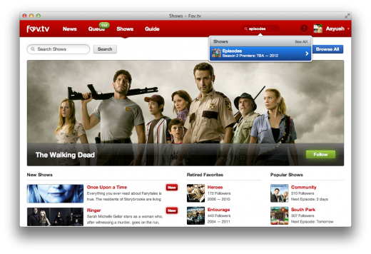 fav tv shows 520x356 Fav.tv is a gorgeously designed social network for TV enthusiasts