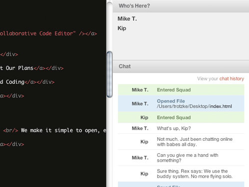 features banner 2 Squad: a collaborative code editor that can be used in the classroom